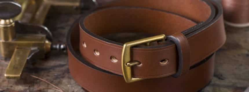 Italian leather belts