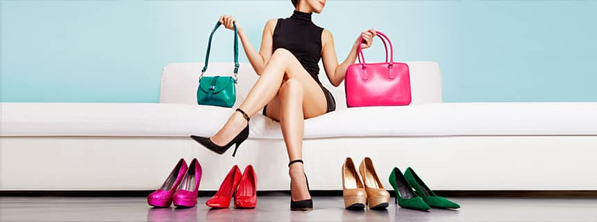 combine purses and shoes